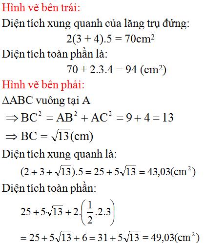 Giải bài 23 trang 111 SGK Toán 8 Tập 2   Giải toán lớp 8