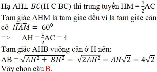 Giải bài 2 trang 134 SGK Toán 9 Tập 2   Giải toán lớp 9