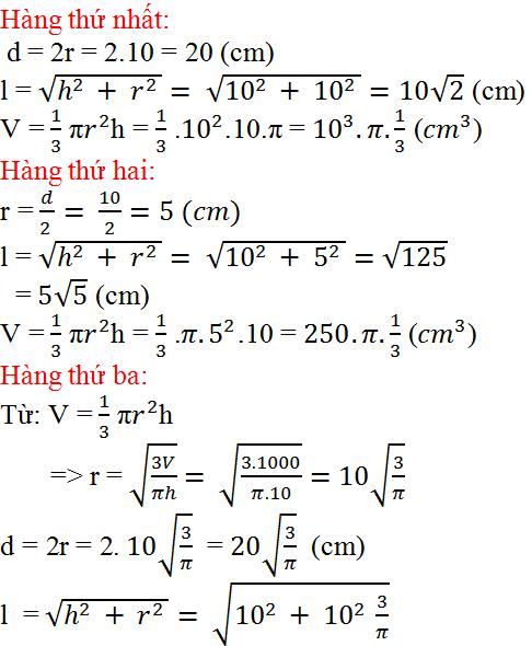 Giải bài 20 trang 118 SGK Toán 9 Tập 2 | Giải toán lớp 9
