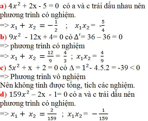 Giải bài 29 trang 54 SGK Toán 9 Tập 2 | Giải toán lớp 9