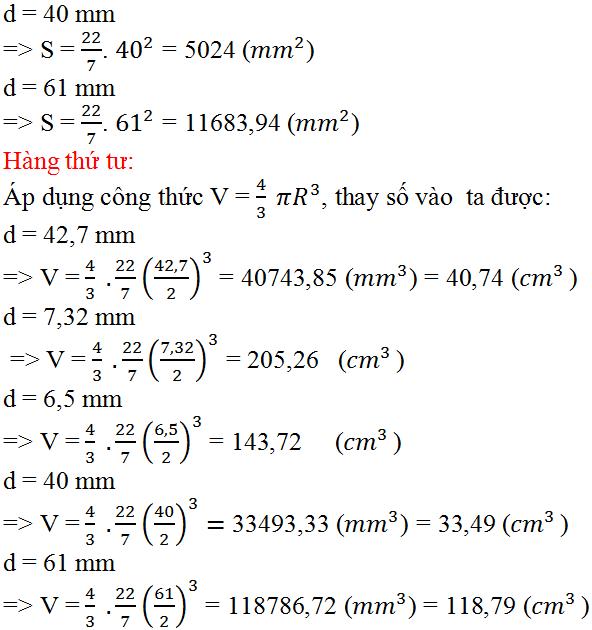 Giải bài 33 trang 125 SGK Toán 9 Tập 2 | Giải toán lớp 9