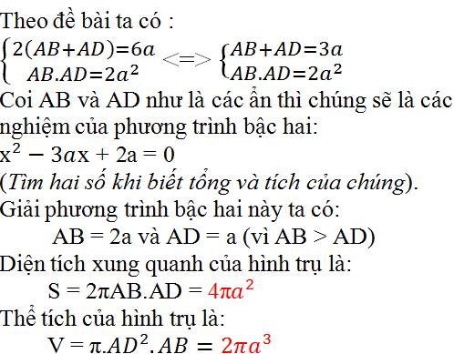 Giải bài 39 trang 129 SGK Toán 9 Tập 2 | Giải toán lớp 9