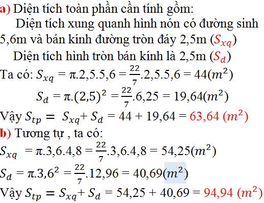 Giải bài 40 trang 129 SGK Toán 9 Tập 2 | Giải toán lớp 9