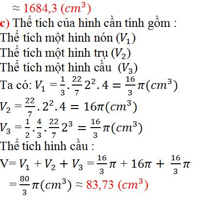 Giải bài 43 trang 130 SGK Toán 9 Tập 2 | Giải toán lớp 9