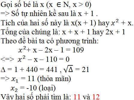 Giải bài 45 trang 59 SGK Toán 9 Tập 2 | Giải toán lớp 9