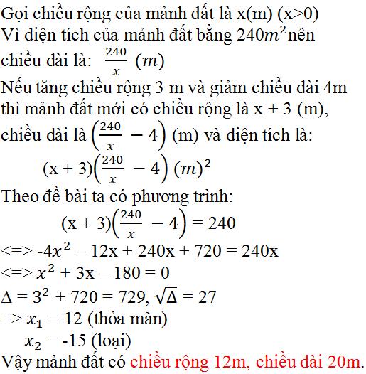 Giải bài 46 trang 59 SGK Toán 9 Tập 2 | Giải toán lớp 9