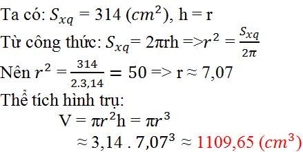 Giải bài 6 trang 111 SGK Toán 9 Tập 2 | Giải toán lớp 9