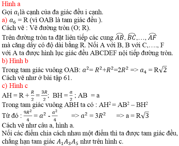 Giải bài 63 trang 92 SGK Toán 9 Tập 2   Giải toán lớp 9