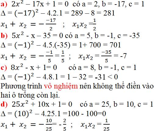 Giải bài 25 trang 52 SGK Toán 9 Tập 2 | Giải toán lớp 9