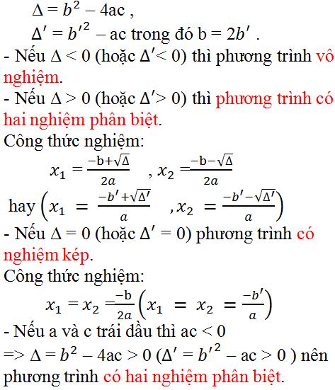 Câu hỏi Ôn tập chương 4 phần Đại Số 9   Giải toán lớp 9