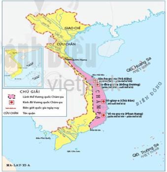 Dựa vào lược đồ hình 18.1, hãy xác định phạm vi chủ yếu của Vương quốc Chăm - Pa