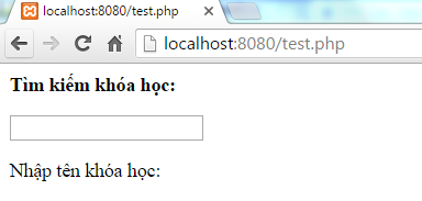 Ajax search trong PHP
