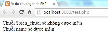 Chuỗi trong PHP