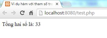 Hàm trong PHP