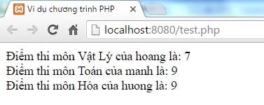 Mảng đa chiều trong PHP