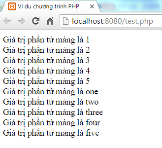 Mảng trong PHP
