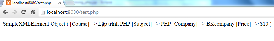 Simple XML trong PHP