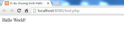 Chương trình Hello World trong PHP