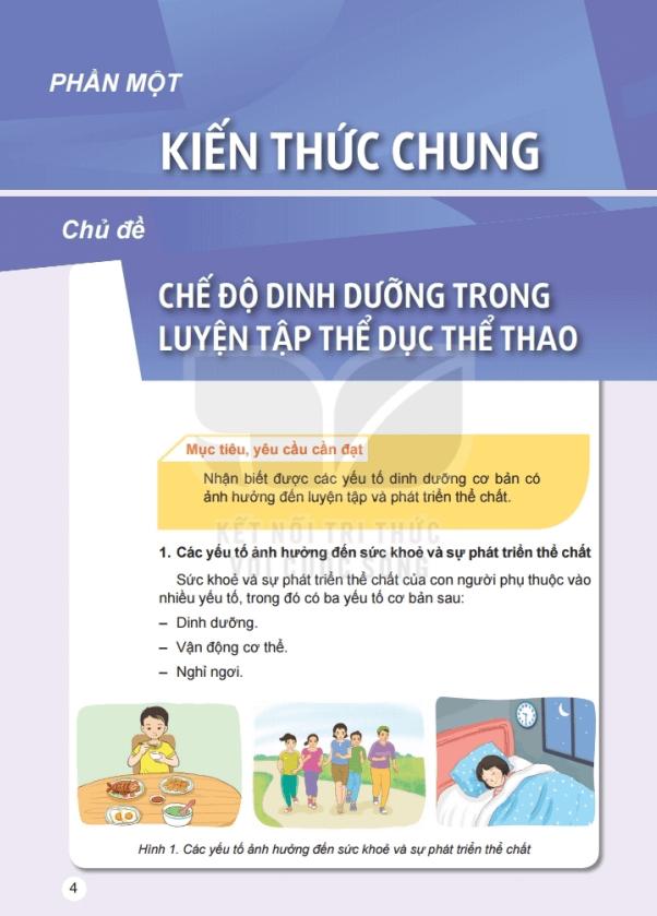 Sách Giáo dục thể chất lớp 6 Kết nối tri thức với cuộc sống