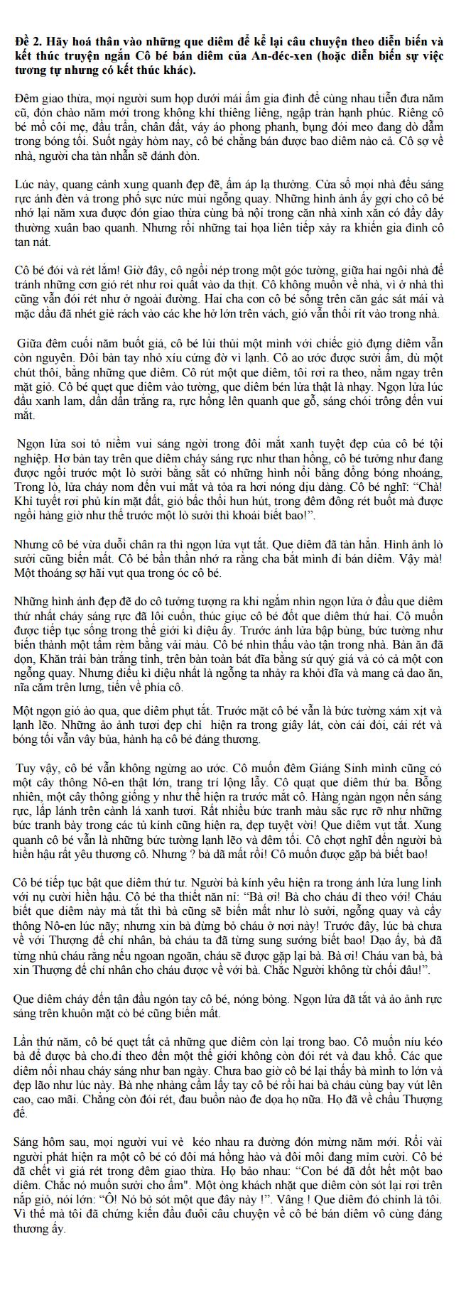 Viết bài làm văn số 3