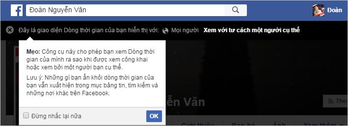 Xem dòng thời gian Facebook của bạn dưới cách nhìn của người khác | Thủ  thuật Facebook hay nhất tại VietJack