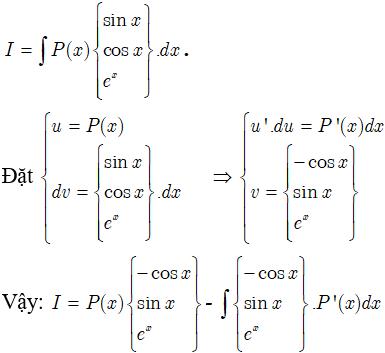 Bảng công thức nguyên hàm đầy đủ, chi tiết - Toán lớp 12