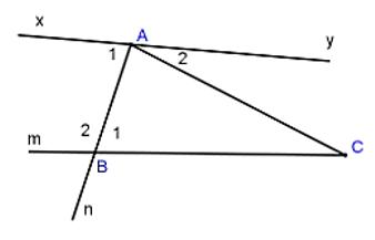 Trắc nghiệm: Các góc tạo bởi một đường thẳng cắt hai đường thẳng - Bài tập Toán lớp 7 chọn lọc có đáp án, lời giải chi tiết