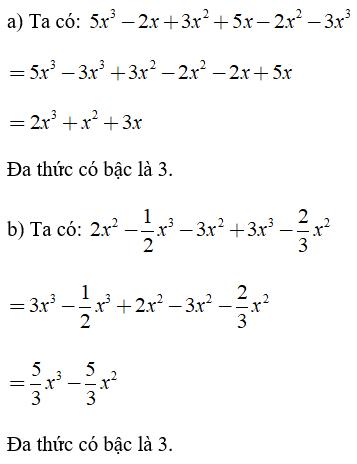 Trắc nghiệm: Đa thức - Bài tập Toán lớp 7 chọn lọc có đáp án, lời giải chi tiết
