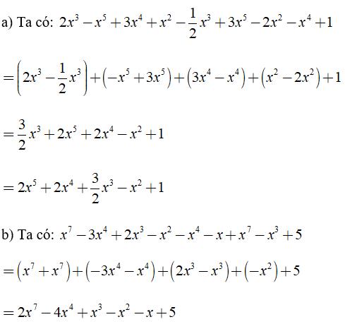 Trắc nghiệm: Đa thức một biến - Bài tập Toán lớp 7 chọn lọc có đáp án, lời giải chi tiết