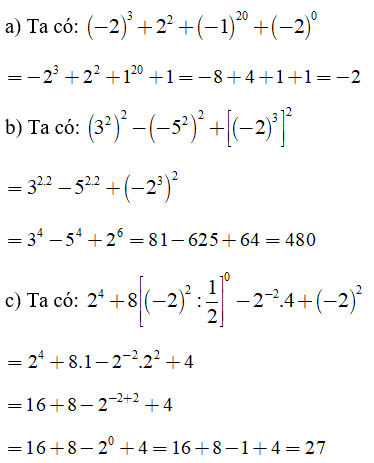 Trắc nghiệm: Lũy thừa của một số hữu tỉ (tiếp) - Bài tập Toán lớp 7 chọn lọc có đáp án, lời giải chi tiết