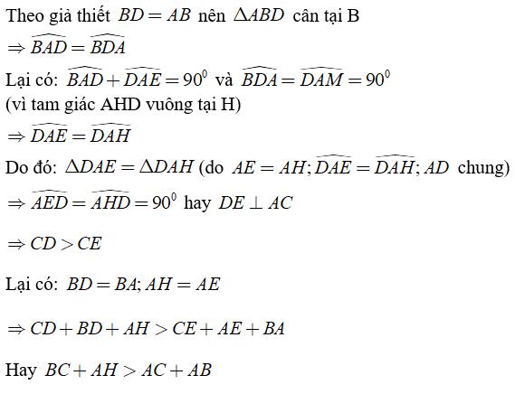 Trắc nghiệm: Quan hệ giữa đường vuông góc và đường xiên, đường xiên và hình chiếu - Bài tập Toán lớp 7 chọn lọc có đáp án, lời giải chi tiết