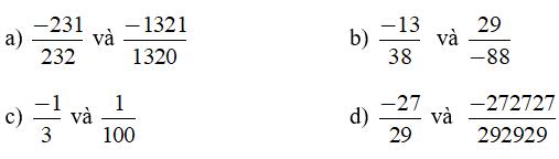 Trắc nghiệm: Tập hợp Q các số hữu tỉ - Bài tập Toán lớp 7 chọn lọc có đáp án, lời giải chi tiết