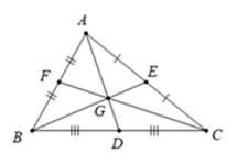 Trắc nghiệm Tính chất ba đường trung tuyến của tam giác - Bài tập Toán lớp 7 chọn lọc có đáp án, lời giải chi tiết
