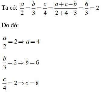 Trắc nghiệm: Tính chất của dãy tỉ số bằng nhau - Bài tập Toán lớp 7 chọn lọc có đáp án, lời giải chi tiết