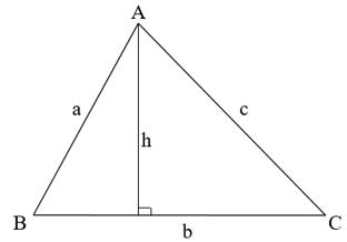 Lý thuyết: Diện tích tam giác   Lý thuyết và Bài tập Toán 8 có đáp án