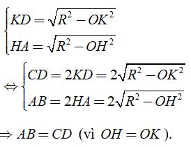 Lý thuyết: Liên hệ giữa dây và khoảng cách từ tâm đến dây - Lý thuyết Toán lớp 9 đầy đủ nhất