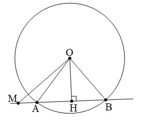 Lý thuyết: Vị trí tương đối của đường thẳng và đường tròn - Lý thuyết Toán lớp 9 đầy đủ nhất